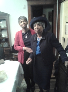 Mom at 90 with my sister Chris
